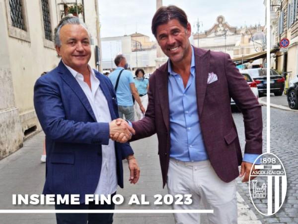 Ascoli Calcio e Mister Sottil insieme fino al 2023.