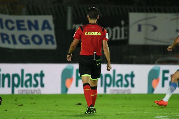 """Valeri di Roma designato per il match del """"Curi""""."""
