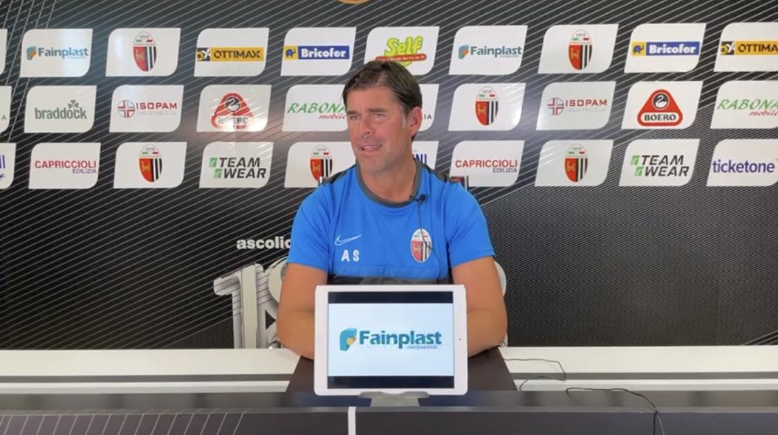 """Pre gara Ascoli-Cosenza Mister Sottil: """"Domani dovremo rispondere su ogni pallone e contrasto""""."""