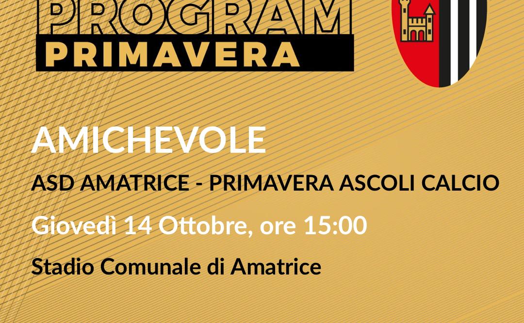 AMICHEVOLE | ASD AMATRICE-PRIMAVERA ASCOLI CALCIO